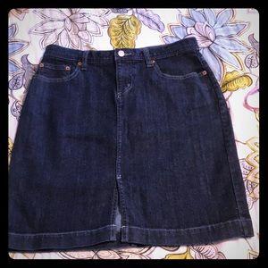 GAP jeans stretch denim skirt size 6
